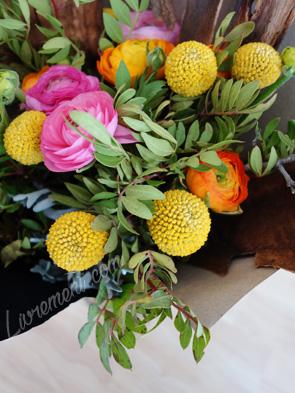 Bouquet et craspedia