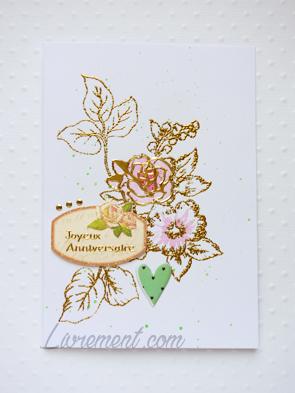 Carte d'anniversaire avec des roses au scrap