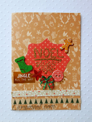Carte de l'Avent pour Noël