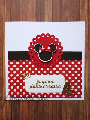 Carte Minnie anniversaire 4 ans