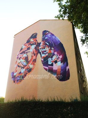 Graffiti poumon de Reso à Toulouse