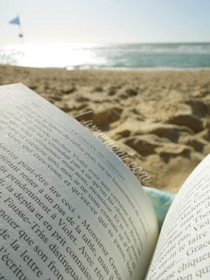 Lire quelques pages au bord de l'océan