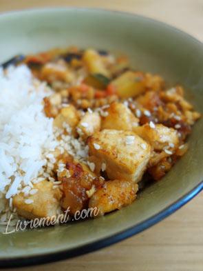 sticky crispy tofu