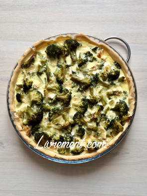 Tarte délicieuse brocoli camembert