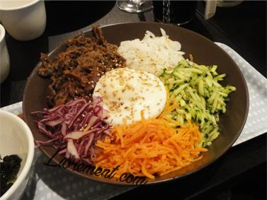 Photo d'un plat bibimbap