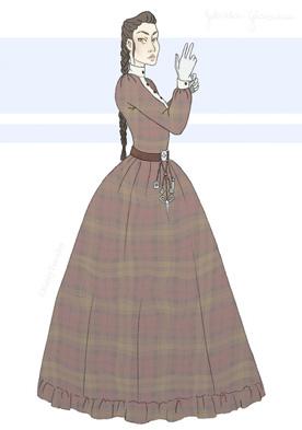 Portrait dessiné de Sidheag Maccon, personnage de Gail Carriger
