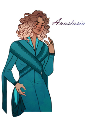 Fan art d'Anastasia de Peter's really pretty pour le livre Thunderhead de Neal Shusterman