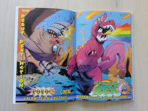Illustration d'un tyrannosaure licorne de la BD Tony Chu de Layman
