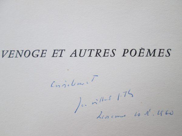 Venoge et autres poèmes