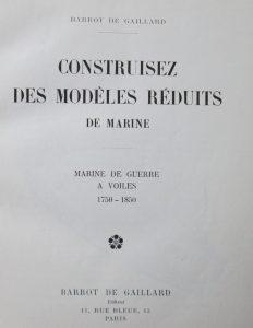 modèles réduits de marine