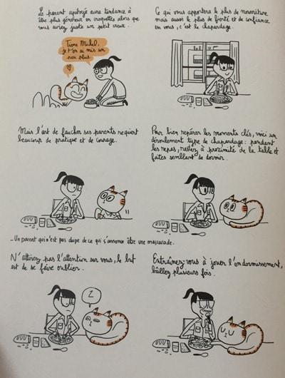 Le chat voleur - nourriture- comment vivre vieux et gros -Michel Plée