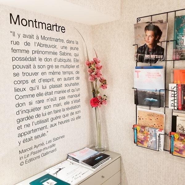 A L'hotel Marcel Aymé- Paris