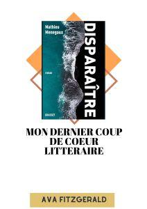 Mathieu Menegaux - disparaitre -Blog littéraire