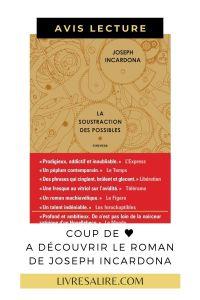 Avis lecture Joseph Incardona