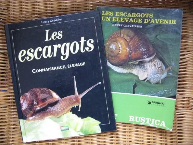livres élevage des escargots
