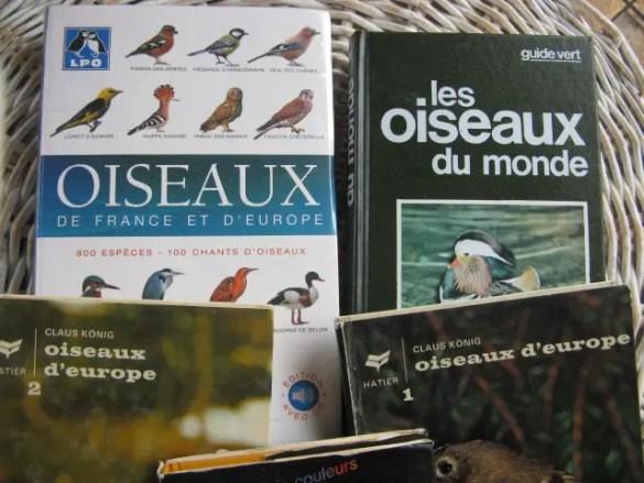photos de livres sur les oiseaux