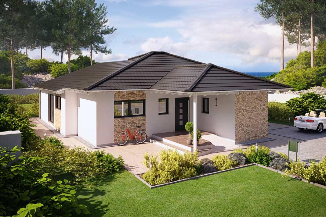 haus moderner bungalow - gartentore, Garten und erstellen