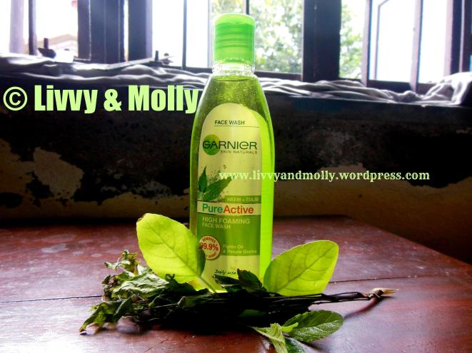 Garnier Pure Active Neem + Tulsi High Foaming Face Wash  Product Review www.livvyandmolly.wordpress.com