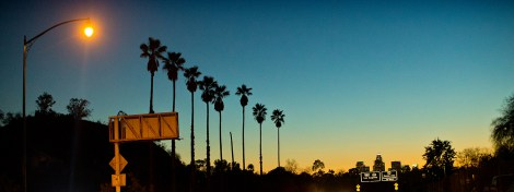 On my way to the David Bailey show at Taschen's Hollywood gallery, driving from Pasadena along LA's 1940-era freeway, the first one.