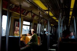 The 'A' Train into Manhattan.