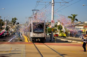 The Gold Line East opening day a few years ago.