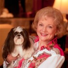 An on-location shoot, in Betty White's home.