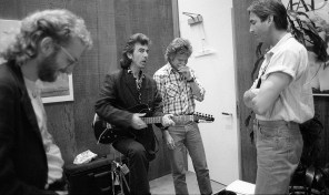 But, he did not have his guitar, so we asked John Fogerty, who was rehearsing in the basement, if we could borrow his guitar.