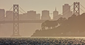San Francisco, from the Oakland Port.