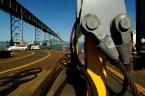 A bird's-eye view of the bridge upgrade.