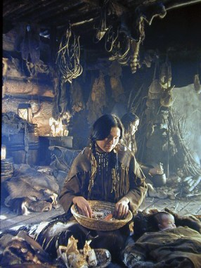 This is an actress portraying Sacagawea for a NGS-funded Lewis & Clark IMAX feature film.