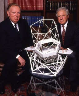 The first time I was published in Time Magazine, before I actually did assignment work for them. Howard Keck presenting Cal Tech president Marvin Goldberger with the dough to begin constructing the first of the Keck Observatories on the Big Island of Hawaii.