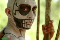 Also an actor portraying ancient Mayan society.