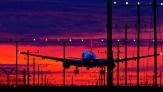 Landing into an amazing sunset, LAX.