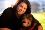 Marise Garcia, enjoying a new lease on life with her dog after a transplant at Streisand's Heart Center.