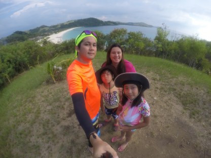 our family on top of Calaguas