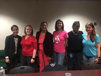 (l-r) Dr.MonicaBugallo, Yuliya Astapova, Lissette Lugo, Melora Loffreto, LaShana Breland & Karina Mikucka