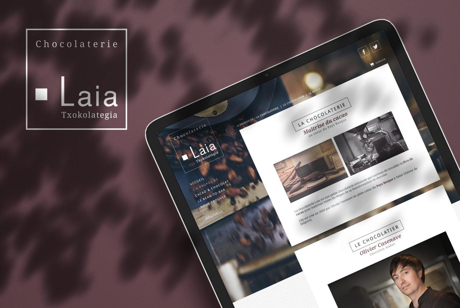 Laia - création de site internet, boutique en ligne artisan chocolatier Pays Basque - ecommerce
