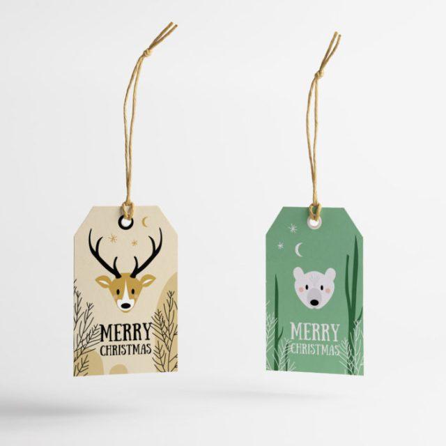 Etiquette cadeaux de Noël à télécharger et imprimer