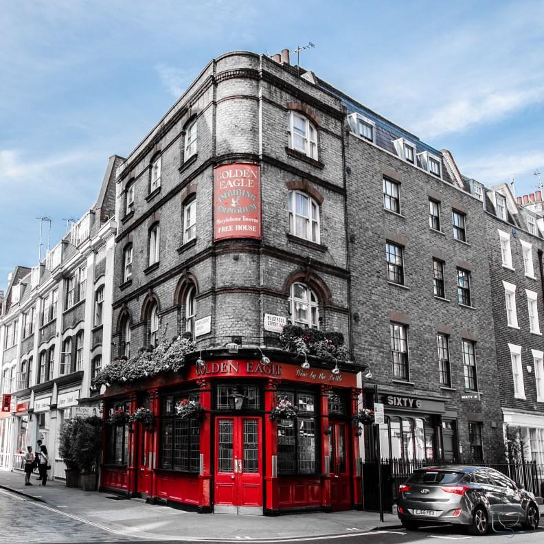 London Golden Eagle Pub City Street Photography