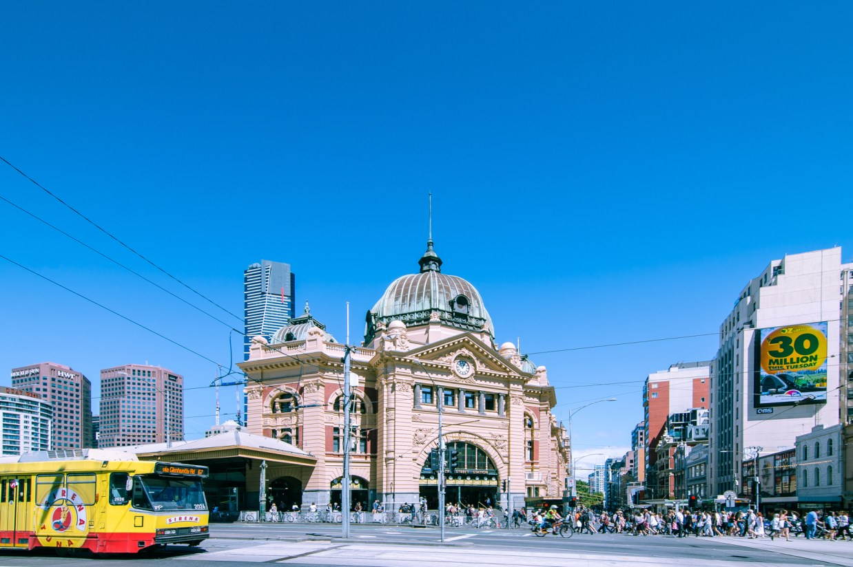 Melbourne Flinders Station City Street Photography
