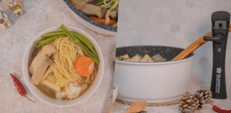 開箱Hirone積木鍋日炊陶鑽IH不沾鍋,好收納、不沾黏,多種爐型皆可用。