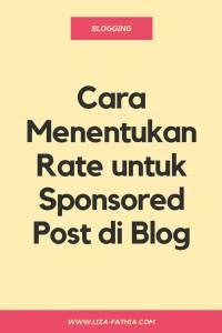 rate untuk sponsored post