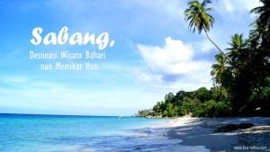 Pesona Wisata Bahari Sabang