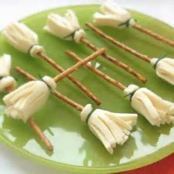 witches broom halloween snack