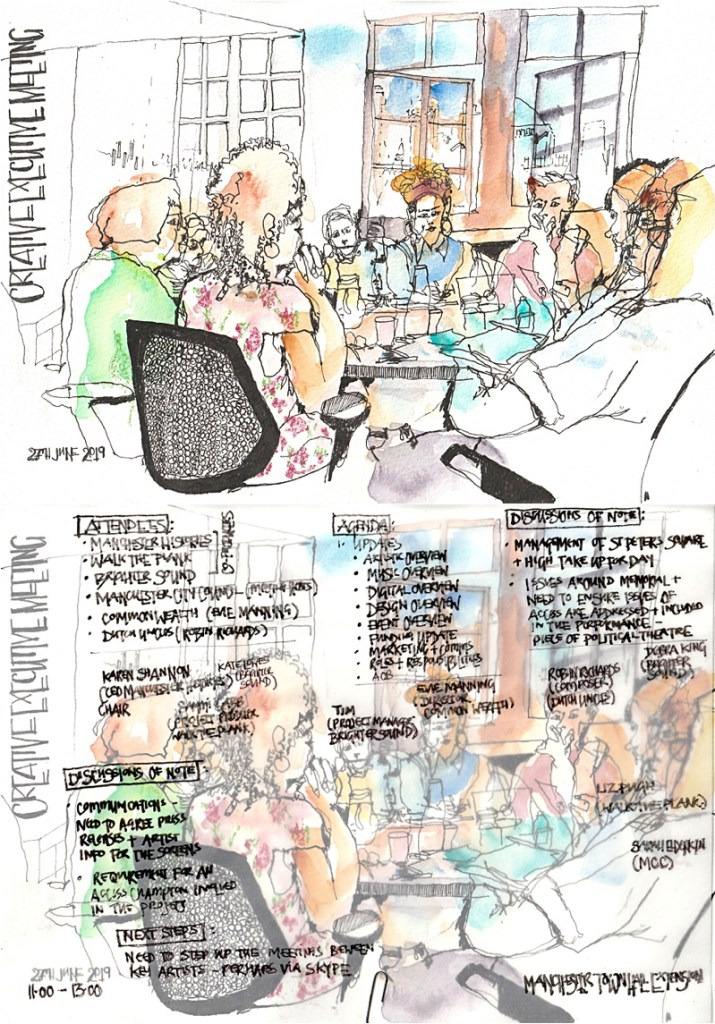 Peterloo 2019 From The Crowd Reportage Illustration