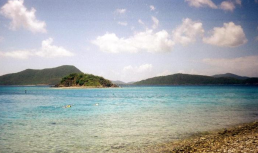 Waterlemon Cay, Tortola in the distance