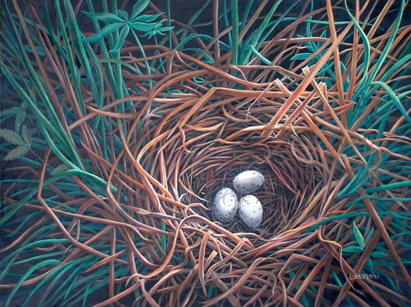 "Marsh Nest acrylic, 30"" x 40"""
