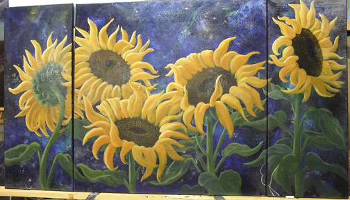 Sunflower starry sky