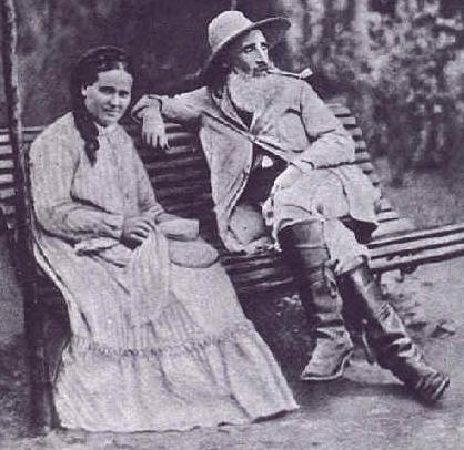 Pissarro and his wife, Julie Vellay