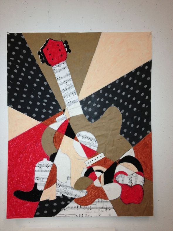 Castleton University student work from a project I gave them on cubism. Not bad!